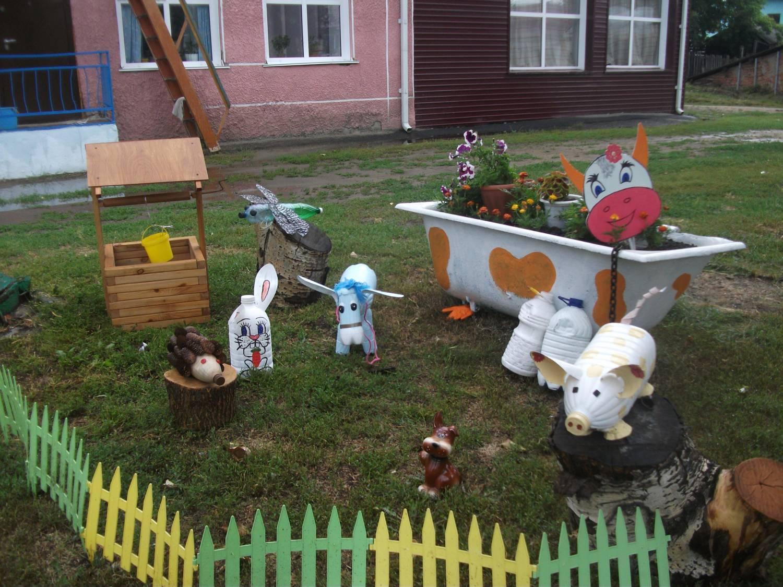 Как можно украсить участок в детском саду своими руками фото